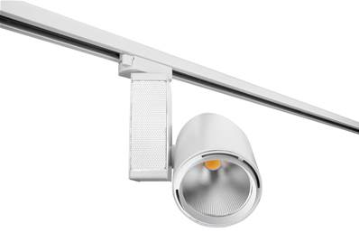 Spot sur rail LED TRAIN 40W 3000K 4000lm 40° Triphasé Aluminium Blanc