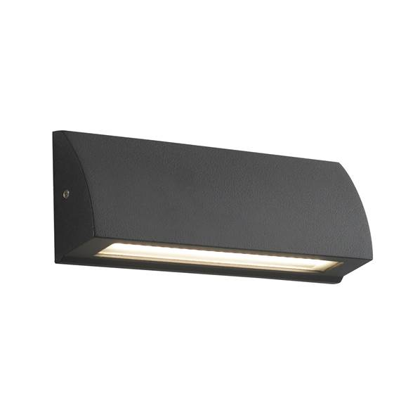 Applique murale LED SHELBY 6W 4000K 240lm 120° IP54 en Aluminium Anthracite