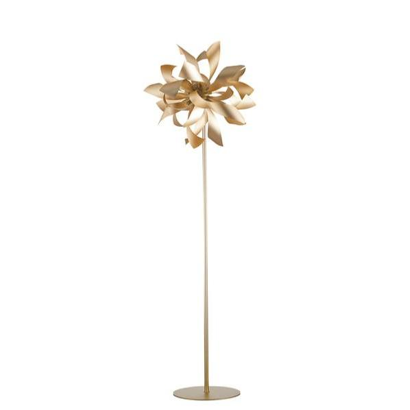 Lampadaire LED BLOOM 4xG9 ø50cm Aluminium Or Satiné