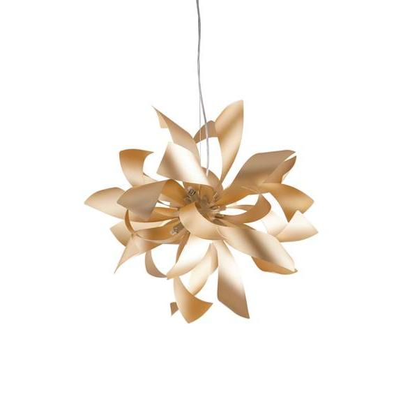 Suspension LED BLOOM 6xG9 ø65cm Aluminium Or Satiné