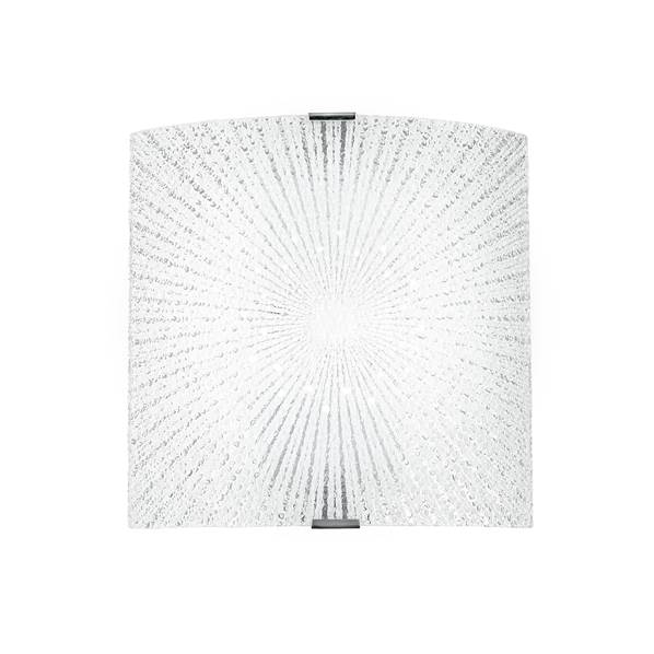 Applique LED CHANTAL 12W 940LM 4000K Verre Diamant avec Finition Chromée