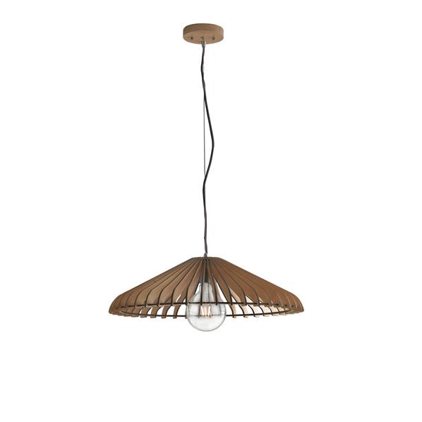 Suspension CALDER 1xE27 ø50cm Bois Naturel