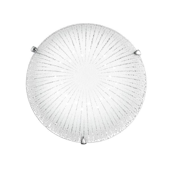 Plafonnier LED CHANTAL 15W 1100LM 4000K ø30cm Verre Diamant avec Finition Chromée