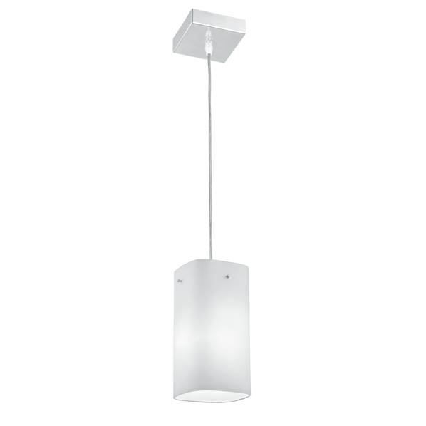 Suspension SQUARE 1xE27 en Verre Blanc