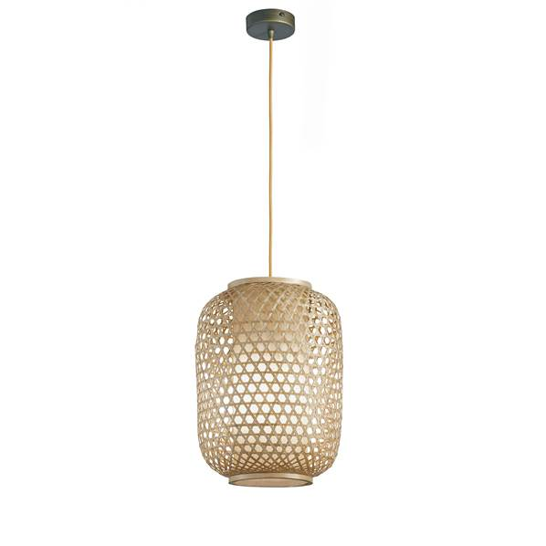 Suspension ZEN 1xE27 ø25cm Bambou Naturel