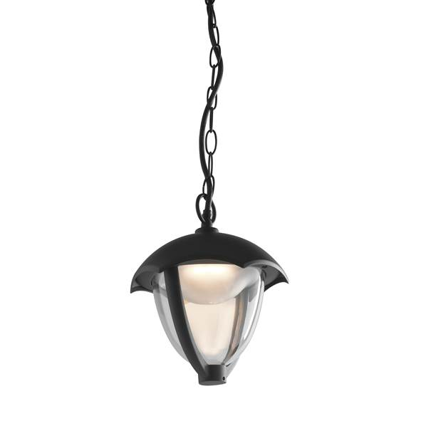 Suspension LED MEGAN 12W 4000K 800lm IP44 Fonte d'Aluminium Noir