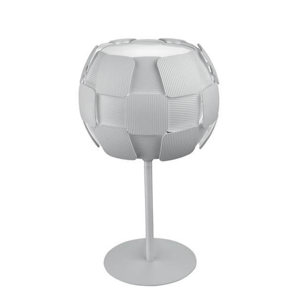 Lampe de table moderne en polycarbonate avec décor en carreaux blanc - NECTAR