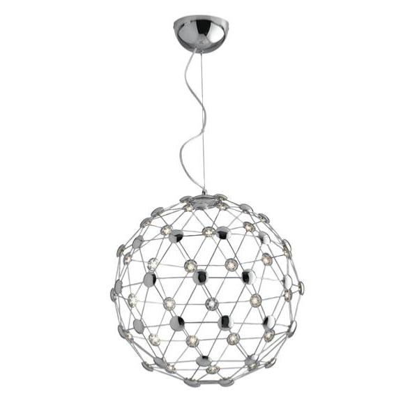 Suspension LED MOLES 60W 5100LM 4000K ø55cm Acier Chromé