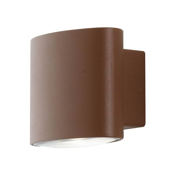 Applique murale LED BOXTER 2x4W 4000K 700lm 120° IP44 Aluminium Finition Bronze
