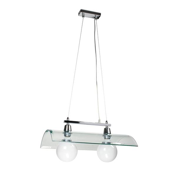 Suspension TEGOLA 2xE27 en Verre Transparent