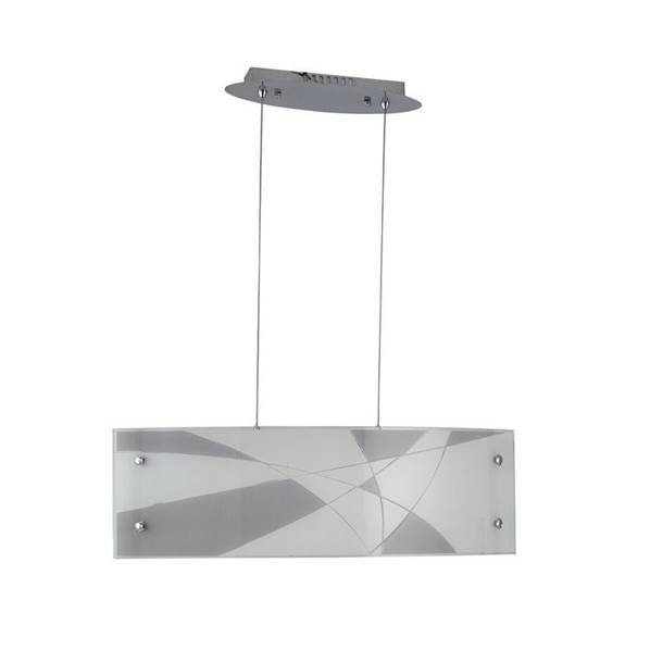 Suspension LED MAXIMA 40W 3200LM en Verre Blanc/Taupe avec Incisions