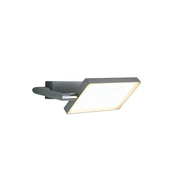 Applique LED BOOK 17W 1300LM 3200K 300° Aluminium Gris Satiné