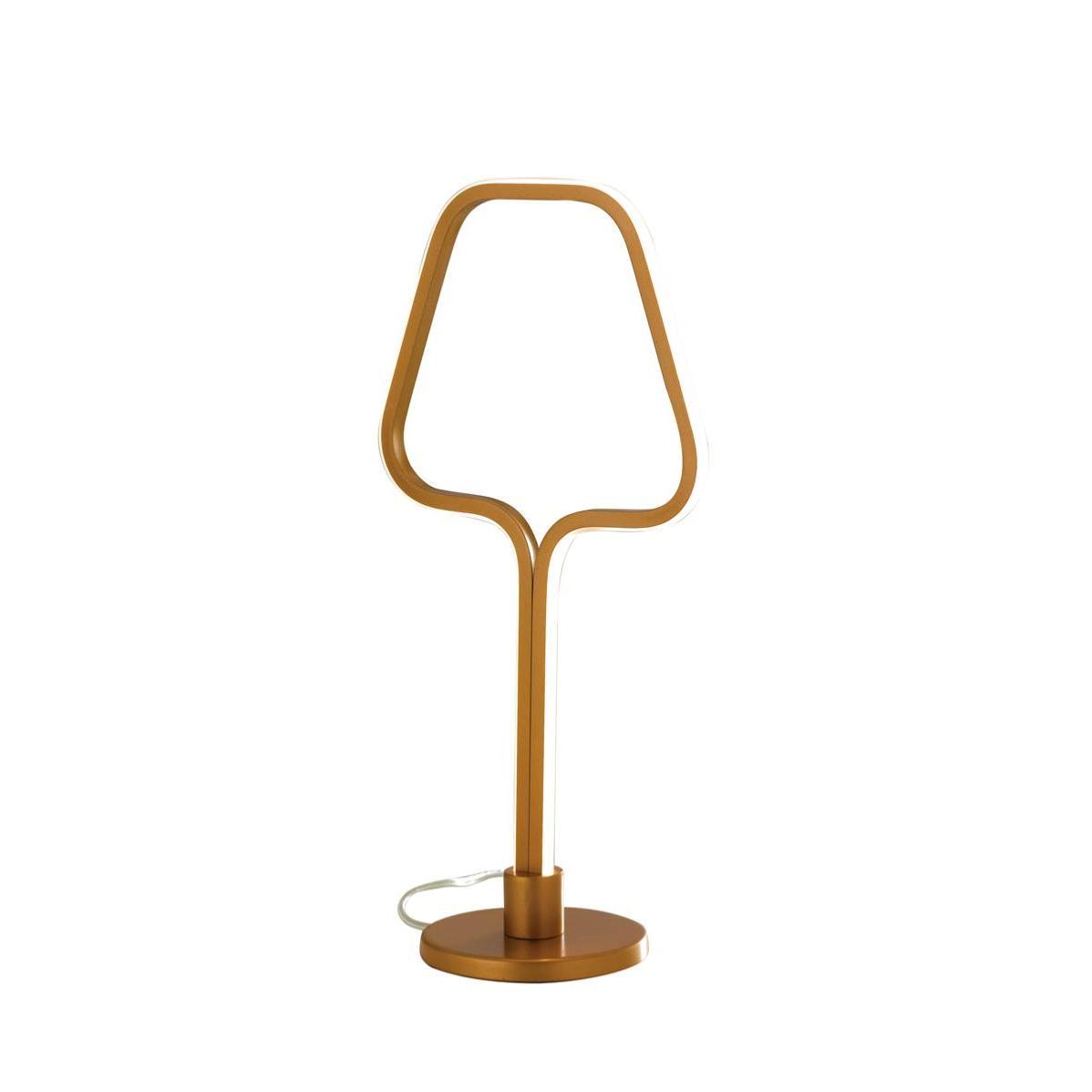 Lampe Sinatra Intégré Pied Profilé En Avec 7 5w Aluminium Led Dorée Sur Yb76gyvf
