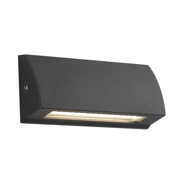 Applique murale LED SHELBY 4W 4000K 120lm 120° IP54 en Aluminium Anthracite