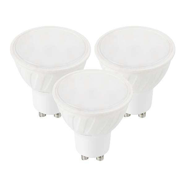 Pack de 3 ampoules LED mini GU10 MR11 4W 280lm 4000K 60° Ø35mm