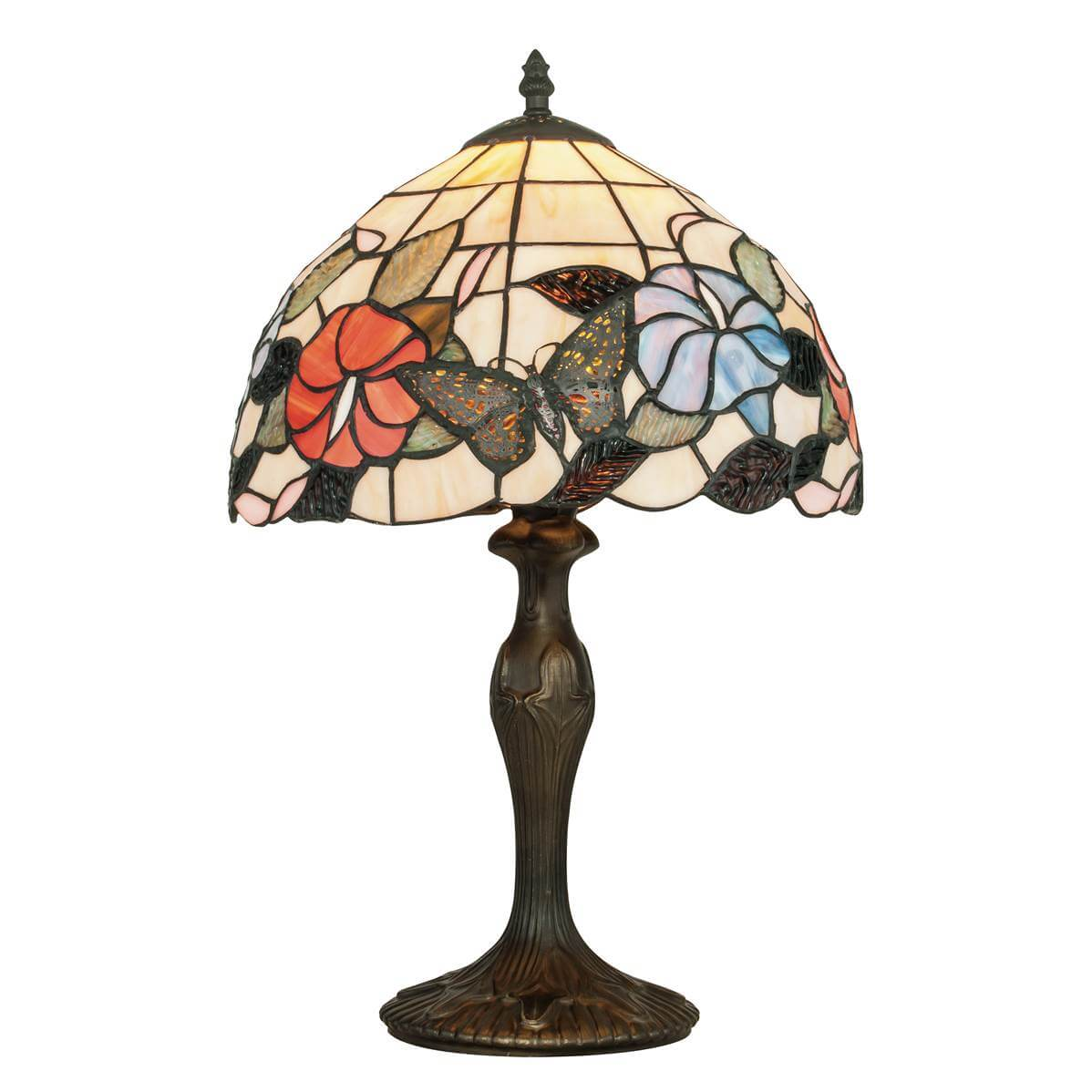 Lampe A Poser Ninfa 1xe27 O30cm Verre Tiffany Moneclairageled