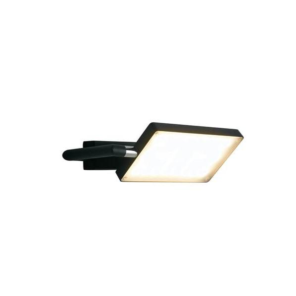 Applique LED BOOK 17W 1300LM 3200K 300° Aluminium Noir Satiné