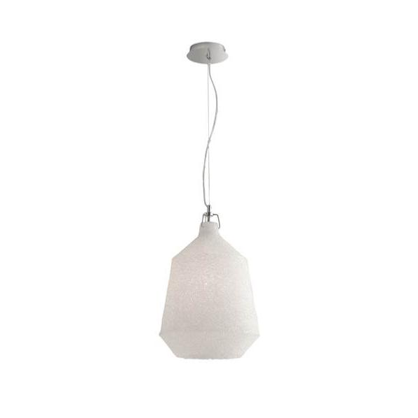Suspension DEA 1xE27 ø33,5cm Métal Chromé Acrylique Blanc