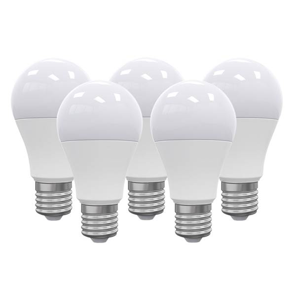 Pack de 5 Ampoules LED standard dimmable E27 12W 1050lm 3000K 240°