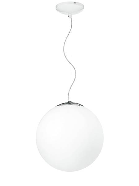 Suspension CITY 1xE27 ø35cm Verre Blanc