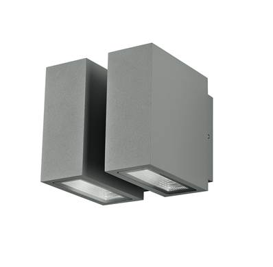 Applique murale LED BETA 4x3W 3000K 250lm 120° IP54 en Aluminium Argenté