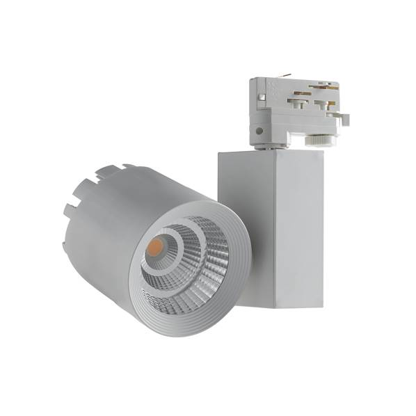 Spot sur rail LED TRAIN 40W 4000K 4000lm 40° Triphasé Aluminium Blanc