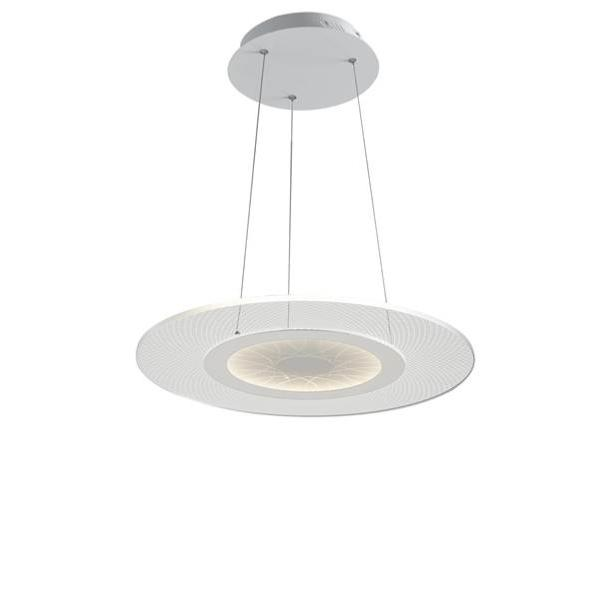 Suspension LED ETERNITY 34W 2720LM 4000K ø45cm Métal Blanc Mat