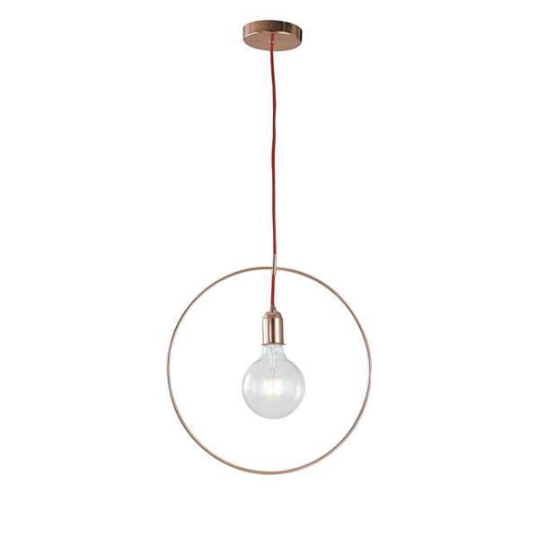 Suspension FRIDA 1xE27 ø40cm Métal Or Rosé