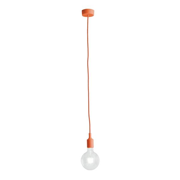Suspension SILICON 1xE27 ø8cm en Silicone Orange
