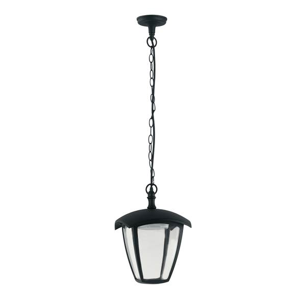 Suspension LED LADY 12W 4000K 800lm IP44 Fonte d'Aluminium Noir