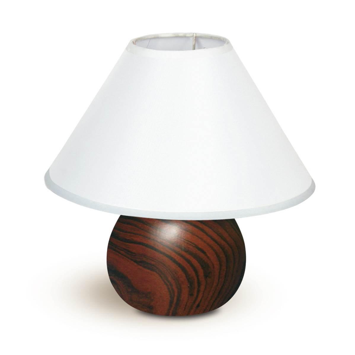 lampe à poser pino 1xe14 ø23cm en céramique avec abatjour