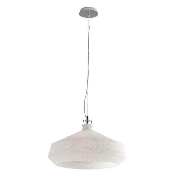 Suspension DEA 1xE27 ø51,5cm Métal Chromé Acrylique Blanc