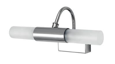 Applique murale double lampes G9 en métal finition chromé pour salle de  bain - ROBY