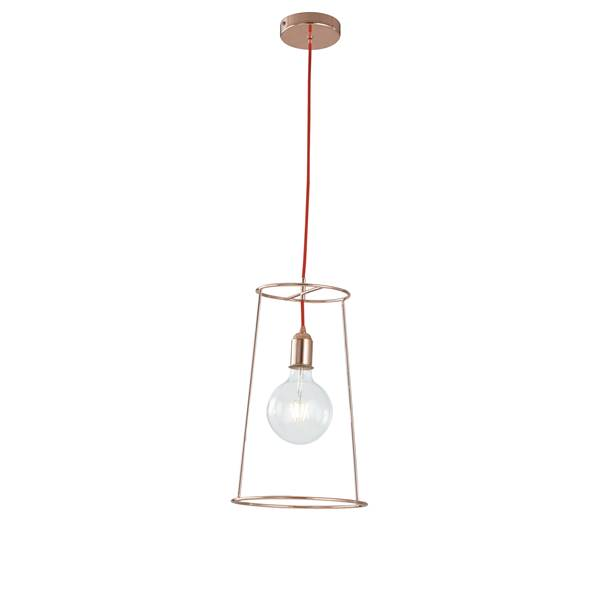 Suspension FRIDA 1xE27 ø25cm Métal Or Rosé