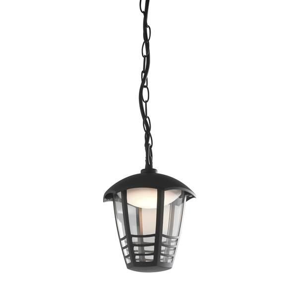 Suspension LED CLOE 12W 4000K 800lm IP44 Fonte d'Aluminium Noir Gaufré