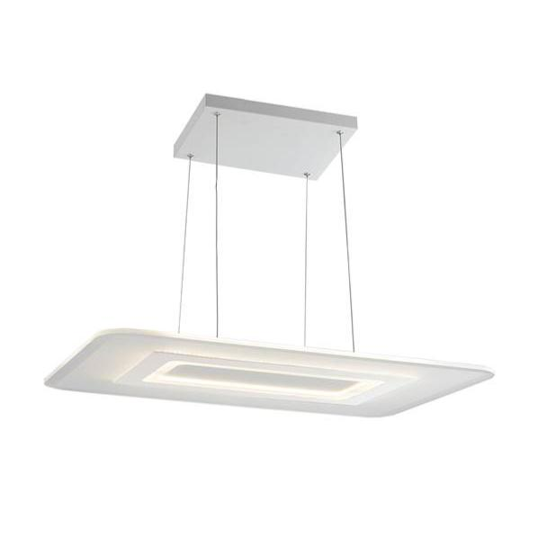 Suspension LED TRESOR 65W 5200LM 4000K Métal Blanc Mat