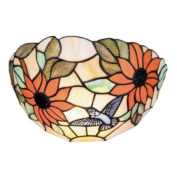 Tiffany Verre Floraux Lampe Avec Dafne 1 Applique En Murale Coloré Motifs kXuTlOPZwi