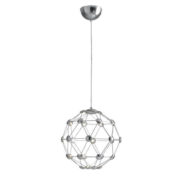 Suspension LED MOLES 32W 2720LM 4000K ø35cm Acier Chromé